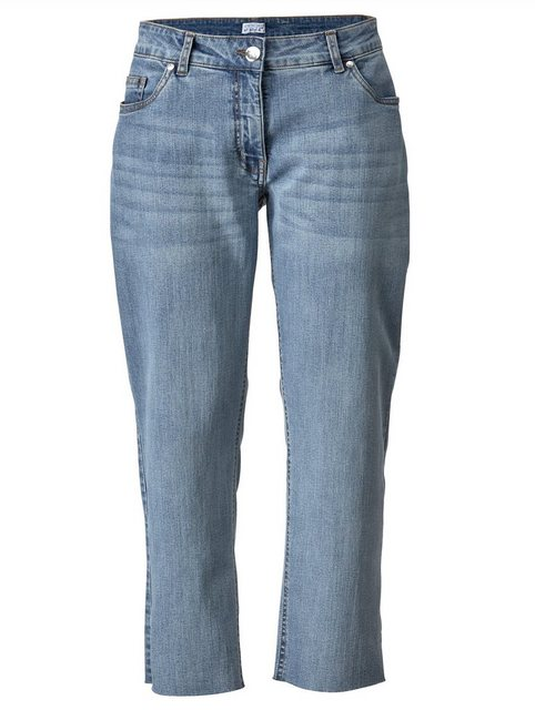 Hosen - Angel of Style by HAPPYsize 7 8 Jeans mit offenem Saum ›  - Onlineshop OTTO