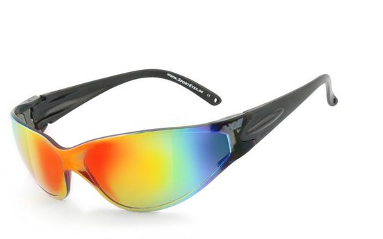 HSE - SportEyes Sportbrille »BIG DEUCE«, Steinschlagbeständig durch Kunststoff-Sicherheitsglas