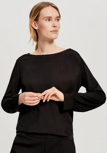OPUS Langarmshirt »Samova« in Blusen Optik mit Raffungen am Ärmel und der Schulter