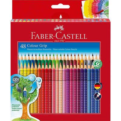 Faber-Castell Buntstift »Buntstifte COLOUR GRIP wasservermalbar, 48 Farben«