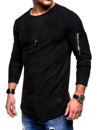 behype Sweatshirt »JESPER« mit cooler Armtasche