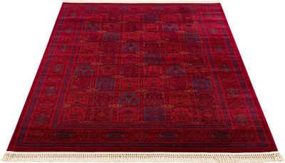 Teppich »Tiara«, DELAVITA, rechteckig, Höhe 10 mm, Mit Fransen, Wohnzimmer