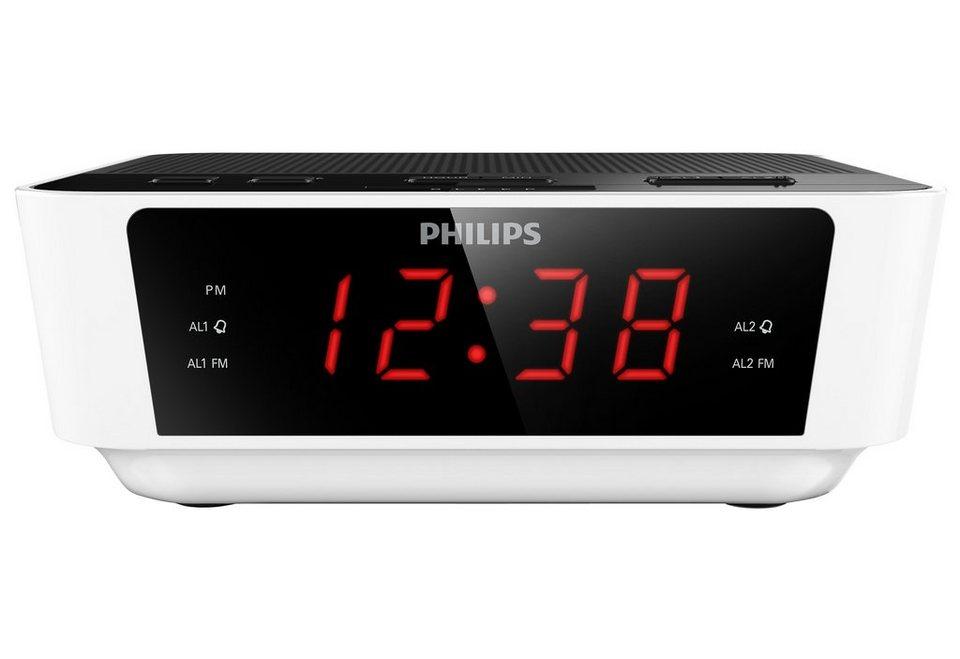 Philips AJ3115 Radiowecker in weiß
