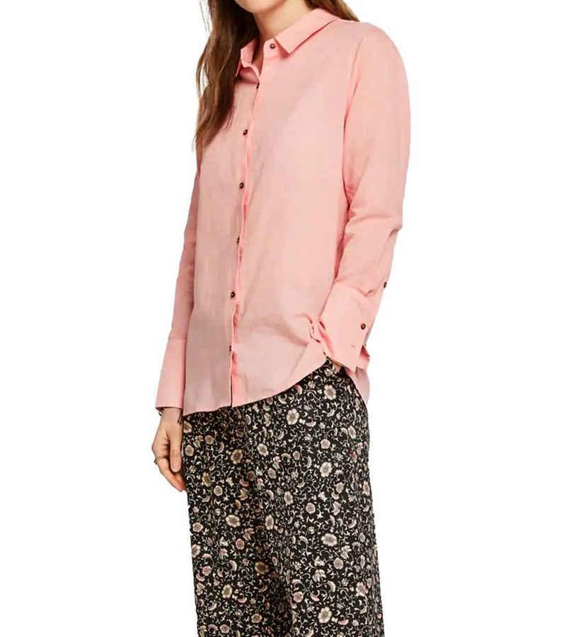 Scotch & Soda Hemdbluse »SCOTCH & SODA Palm Cove Sommer-Bluse süße Damen Langarm-Bluse aus dünnem Baumwoll/Leinen-Mix Alltags-Bluse Rosa«
