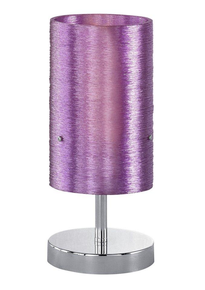 Tischlampe, 1-flg., in 2 Farben , Trio in lila