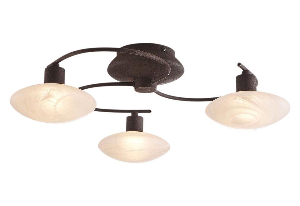 Halogen-Deckenlampe (3- oder 5-flammig), Trio in braun