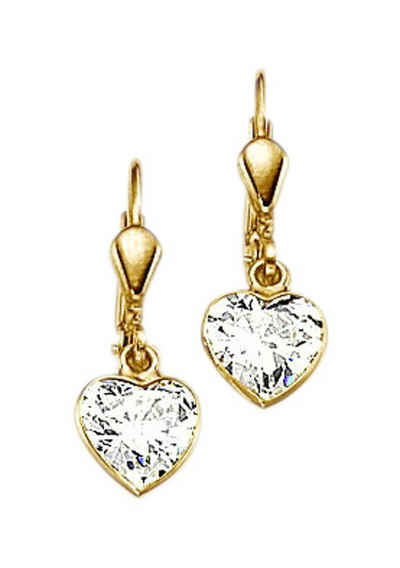 6e254ee0d0ad02 Firetti Paar Ohrhänger »Herz« mit Zirkonia