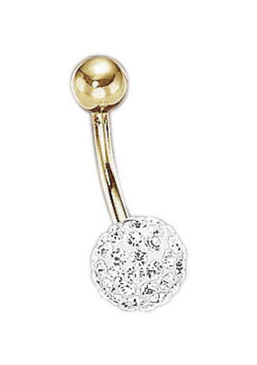 evoke Bauchnabelpiercing »Kugel«, mit Swarovski-Kristallen