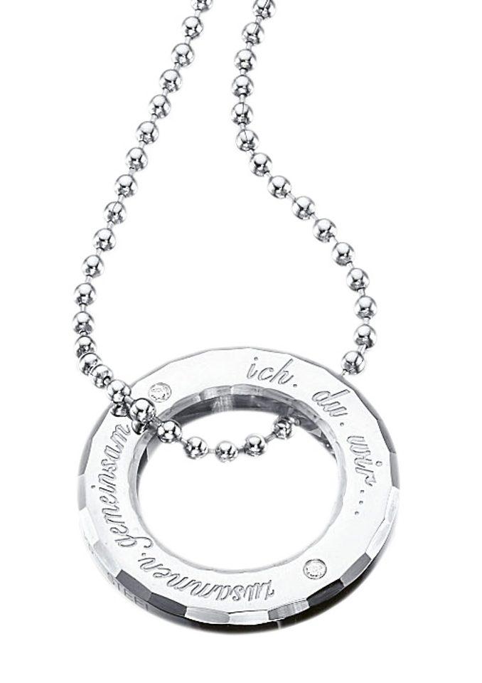 """firetti Halsschmuck / Partnerschmuck: Halskette """"ich.du.wir...zusammen.gemeinsam"""""""