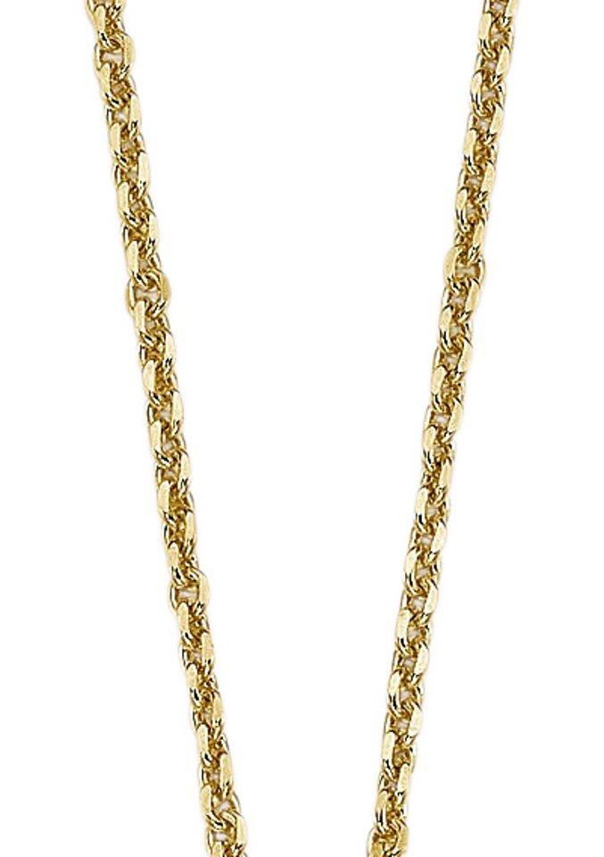 firetti Halsschmuck: Halskette in Ankerkettengliederung, 4-fach diamantiert in goldfarben