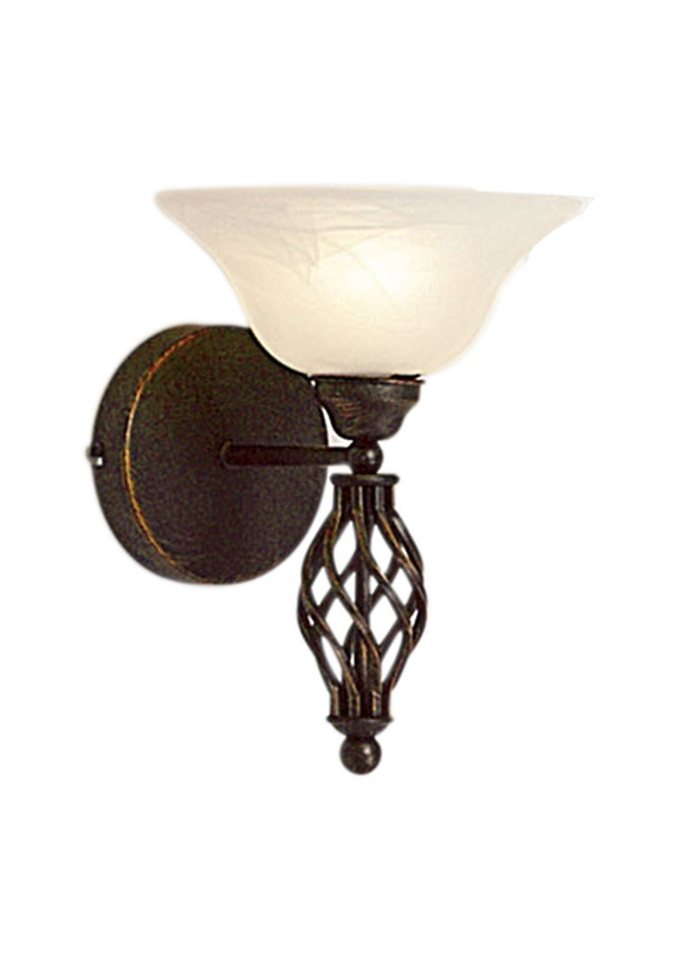Wandlampe, 1-flg. in schwarz
