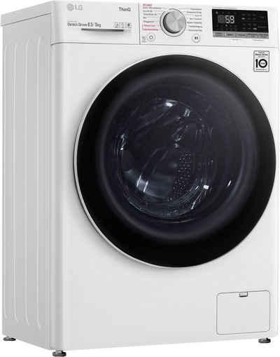 LG Waschtrockner V5WD85SLIM, 8,5 kg, 5 kg, 1200 U/min