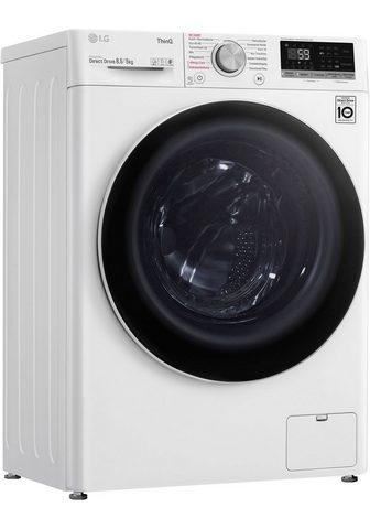 LG Skalbimo mašina-džiovyklė V5WD85SLIM 8...