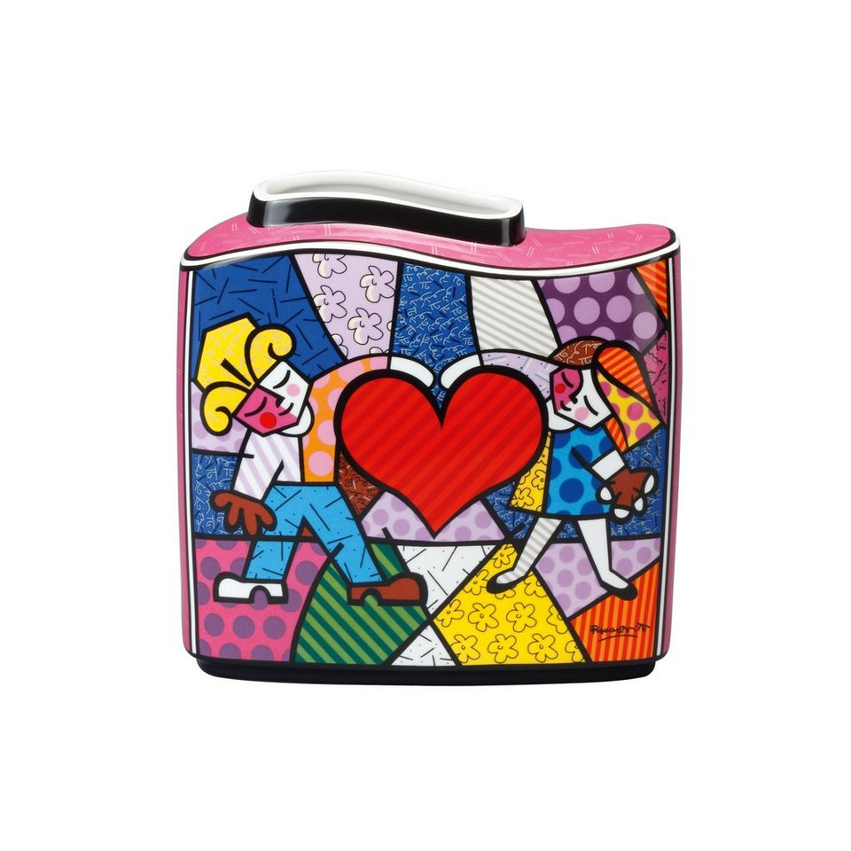 Goebel Vase Heart Kids »Artis Orbis - Britto« in Bunt