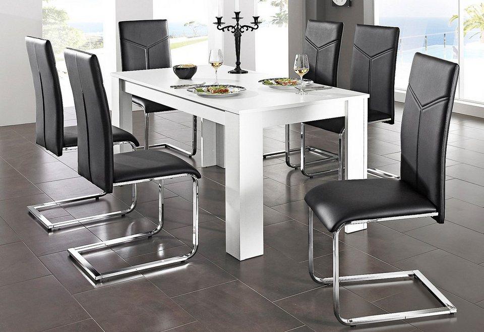 Stühle (2 Stck.) in schwarz