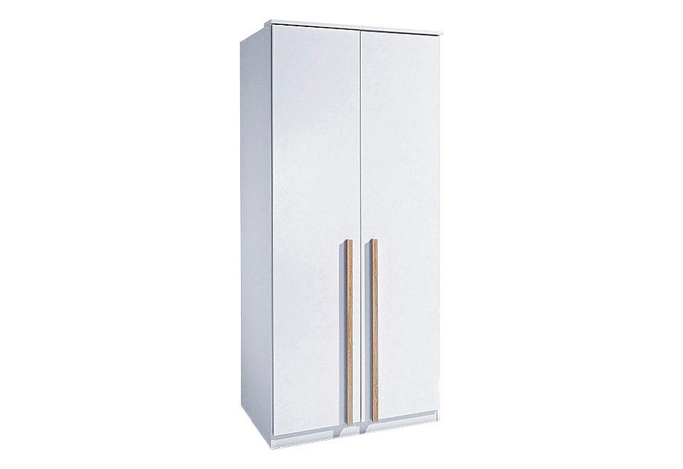 Wimex Kleiderschrank in weiß/eichefarben hell