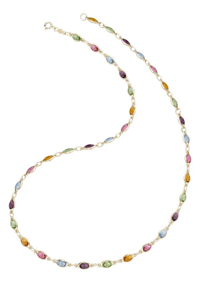 firetti Halsschmuck: Halskette mit Zirkonia in Gold 375