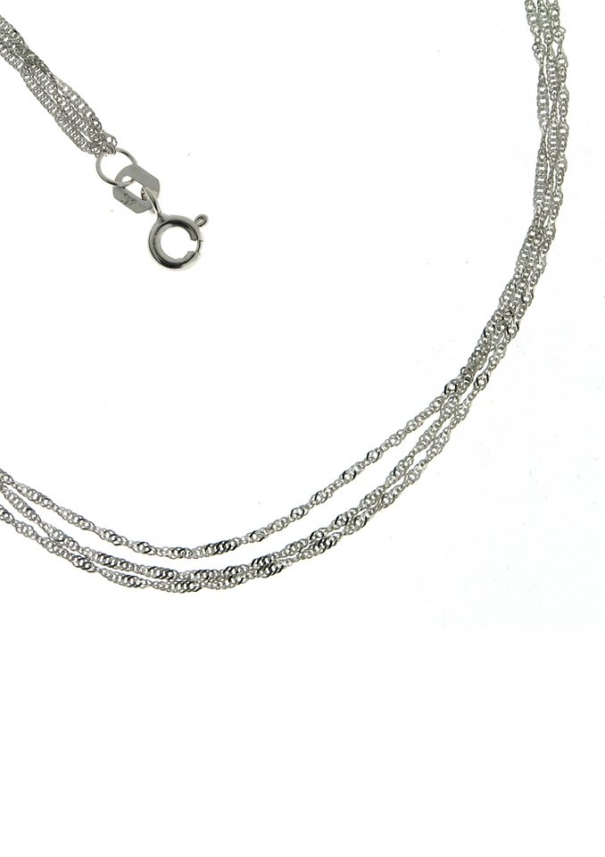 Firetti Goldkette »Singapurkettengliederung, 3-reihig, 2-fach diamantiert, poliert« | Schmuck > Halsketten > Goldketten | Firetti