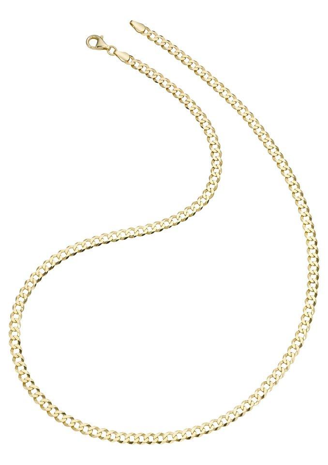 firetti Halsschmuck: Halskette in Panzerkettengliederung, 6-fach diamantiert in goldfarben