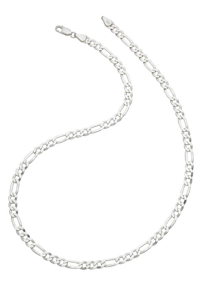 firetti Halsschmuck: Halskette in Figarokettengliederung, diamantiert in Silber 925