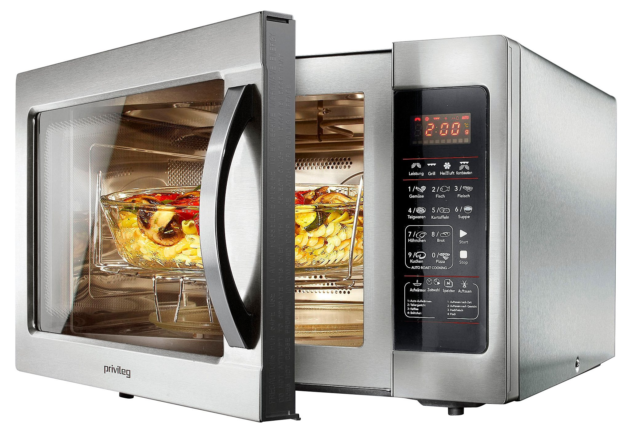 *Privileg Mikrowelle, mit Grill und Umluft, Pizzafunktion, 30 Liter Garraum, 900 Watt*