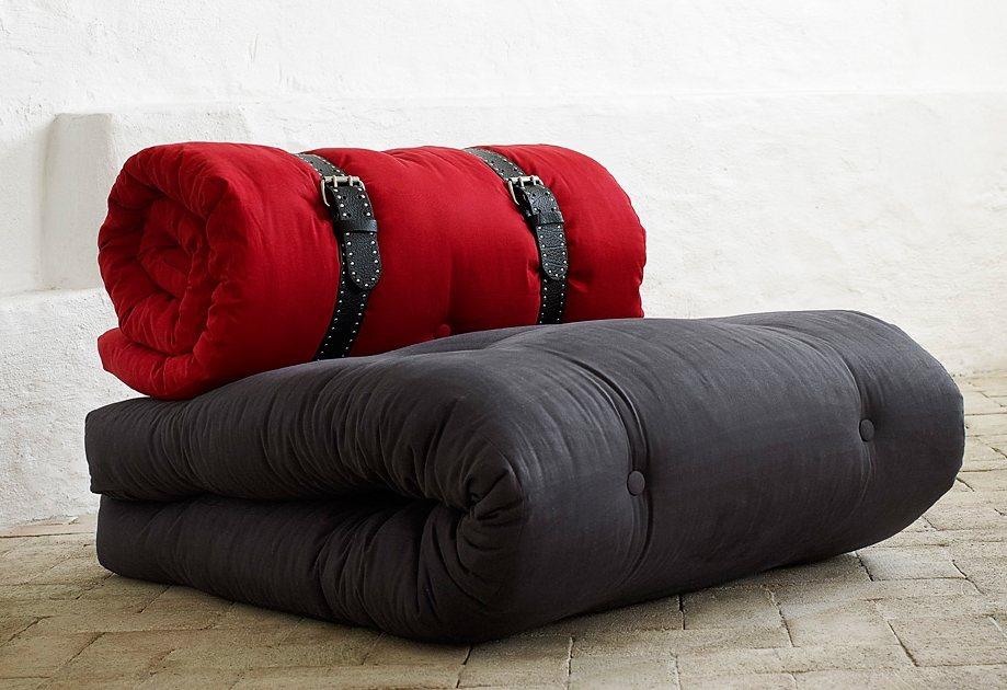 Sitzgelegenheit, Karup in grau/rot