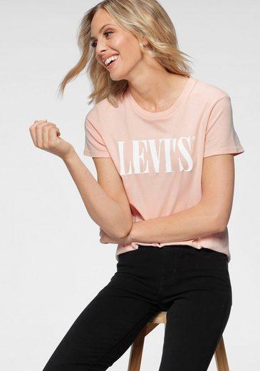 Levi's® Rundhalsshirt »Perfect Tee« mit großem Schriftzug auf der Brust