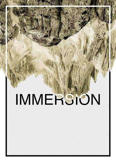 Komar Poster »Immersion Sand«, Abstrakt, Sprüche & Texte, Höhe: 50cm