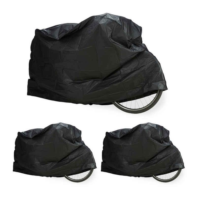 relaxdays Fahrradschutzhülle »3 x Fahrradgarage Kunststoff schwarz«