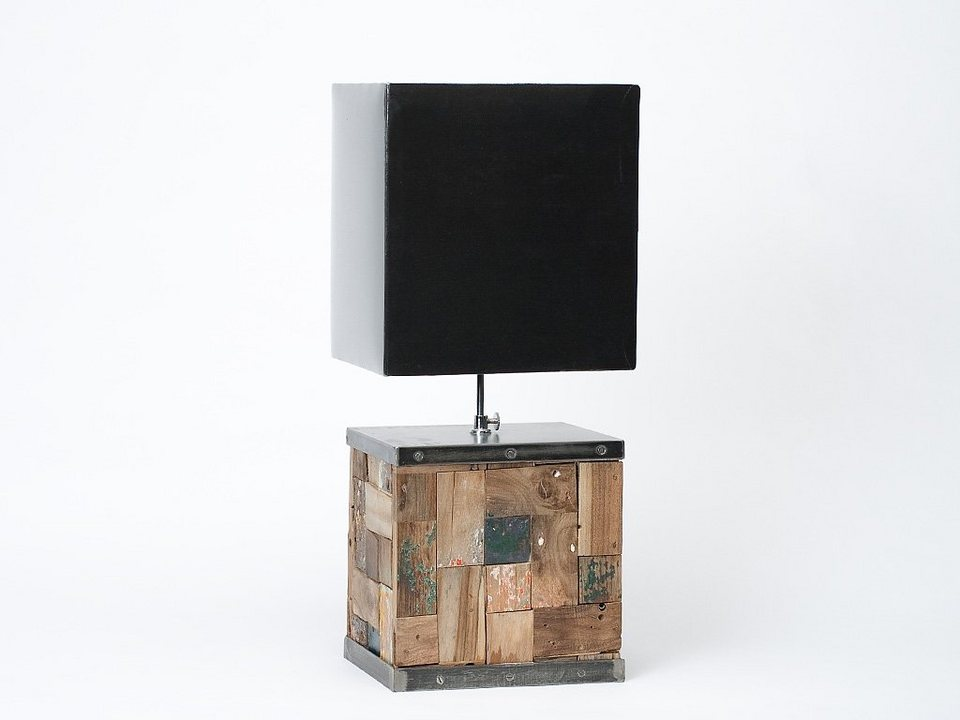 nic duysens lampe aus holz mit schwarzem schirm otto. Black Bedroom Furniture Sets. Home Design Ideas
