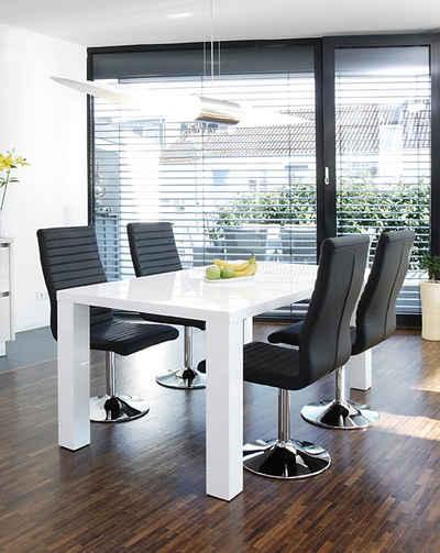 esstisch mit st hlen wei. Black Bedroom Furniture Sets. Home Design Ideas