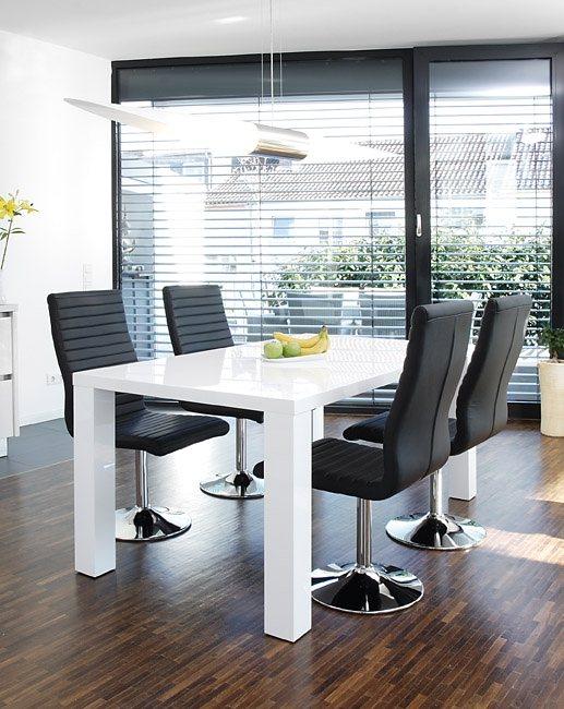 salesfever essgruppe tisch 180x90 cm wei mit 6 st hlen. Black Bedroom Furniture Sets. Home Design Ideas