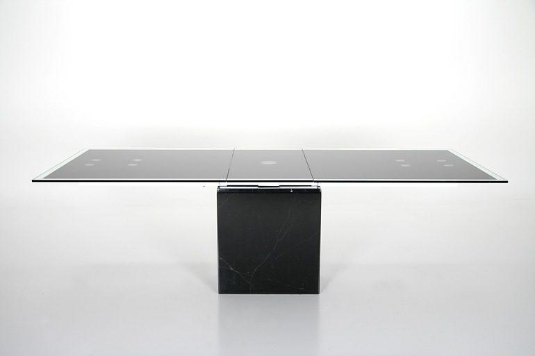 SalesFever Esstisch mit Marmorfuß und Schwarzglas 200/245x100cm »Grazie«