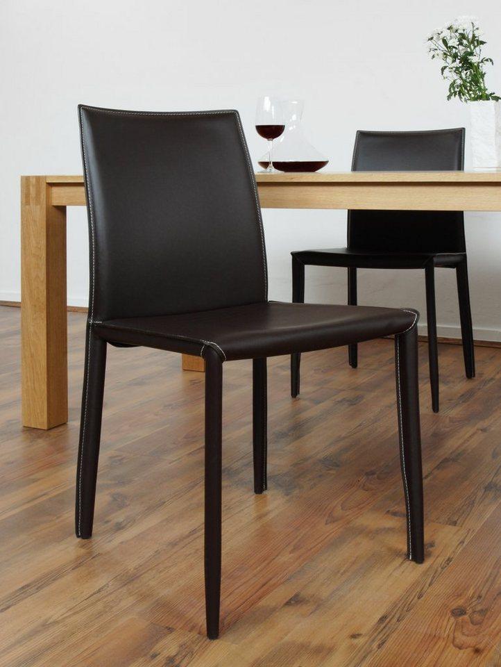 synoun 2er set stuhl in braun jake online kaufen otto. Black Bedroom Furniture Sets. Home Design Ideas
