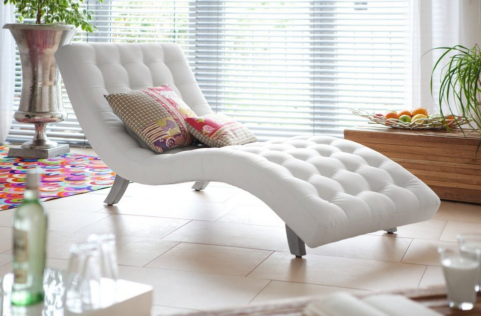 SalesFever Chaiselongue weiß »Snake«