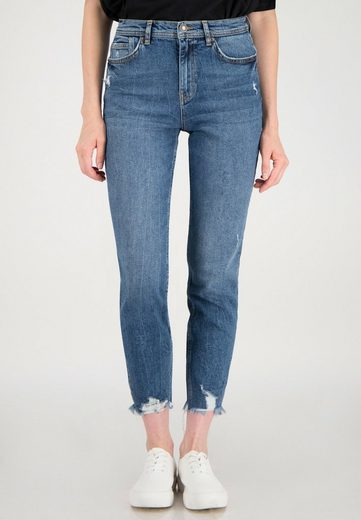 ONE MORE STORY 7/8-Jeans mit offenem Saum