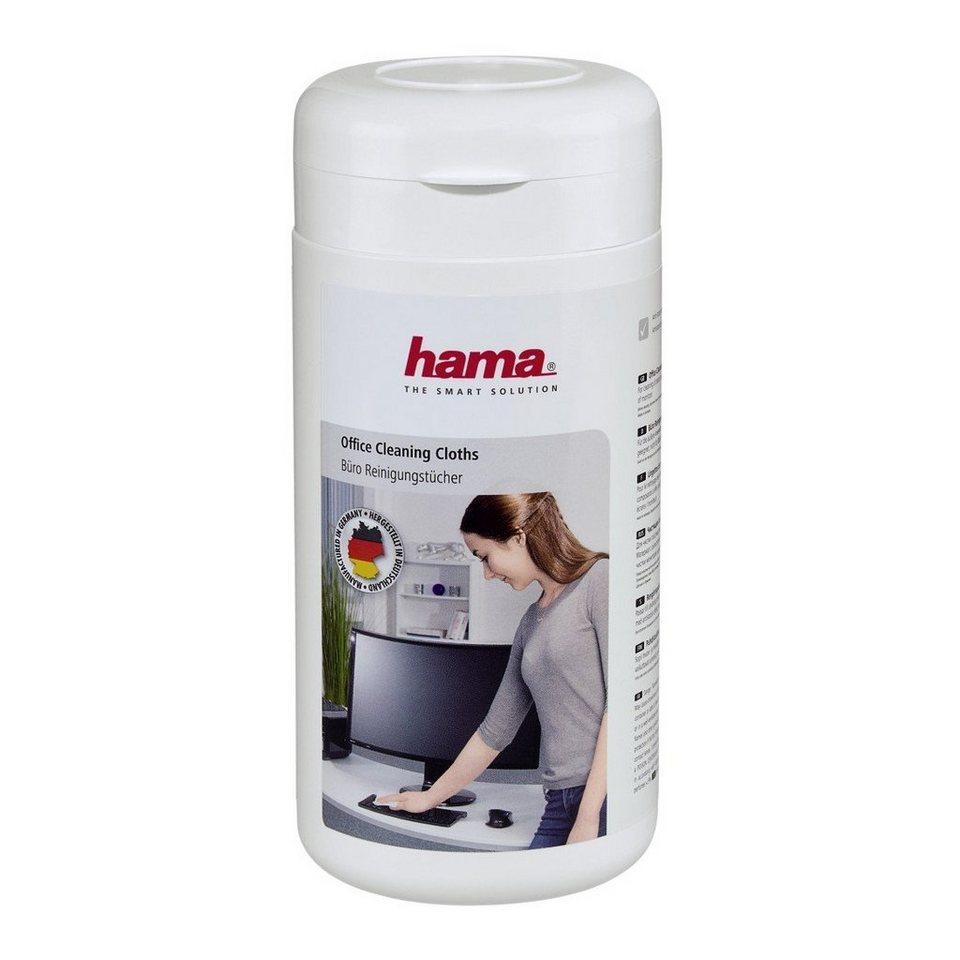 Hama Büro-Reinigungstücher, 100 Stück, in Spenderdose in Weiß
