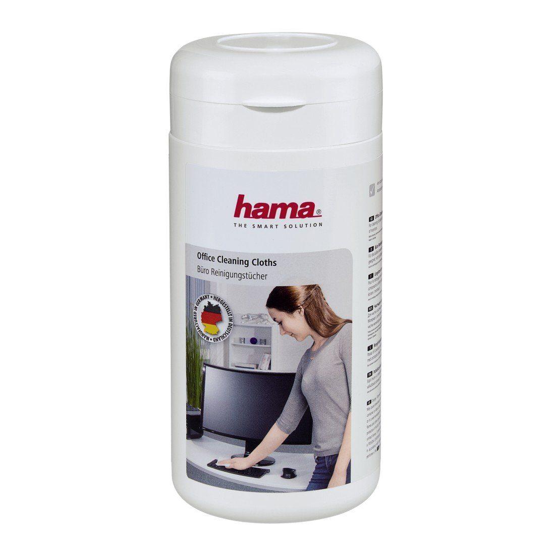 Hama Büro-Reinigungstücher, 100 Stück, in Spenderdose