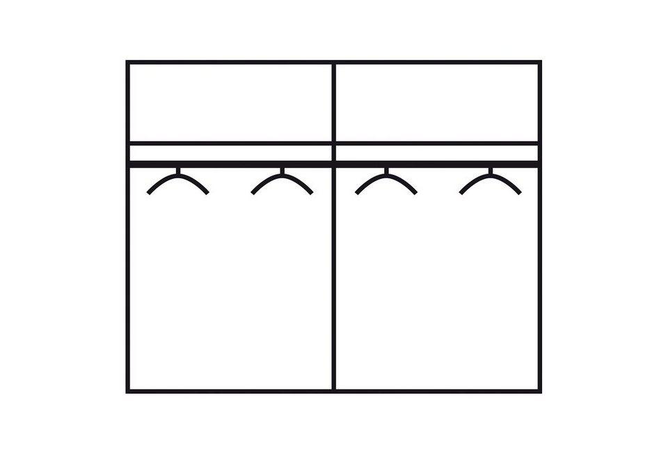 rauch Kleiderschrank in struktureichefarben/weiß