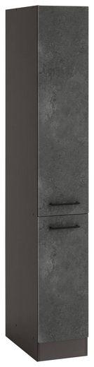 HELD MÖBEL Apothekerschrank »Tulsa« 30 cm breit, 200 cm hoch, mit 2 Auszügen, schwarzer Metallgriff, hochwertige MDF Front