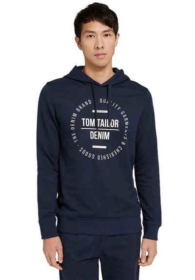 TOM TAILOR Denim Kapuzensweatshirt mit Logofrontdruck
