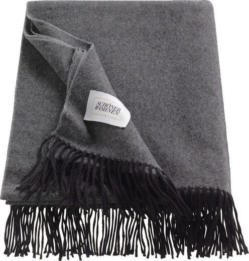 Wohndecke »Wooly«, SCHÖNER WOHNEN-Kollektion, aus hochwertigem Schurwolle-Baumwollmix