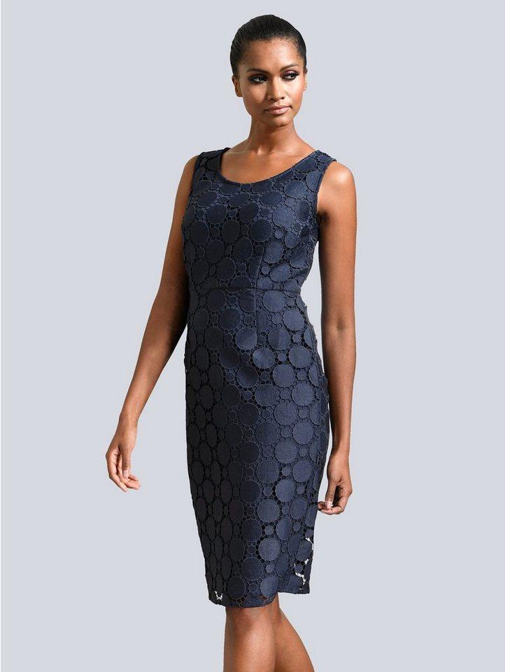 Festtagsmode - Alba Moda Kleid mit Spitze › blau  - Onlineshop OTTO