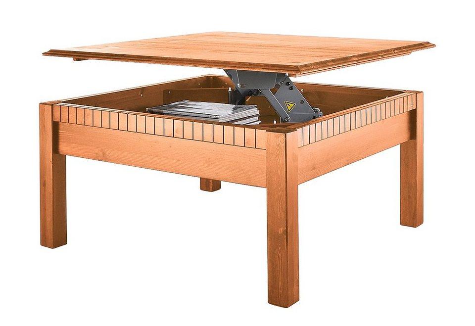 Home affaire Couchtisch, mit höhenverstellbarer Tischplatte in gelaugt/geölt