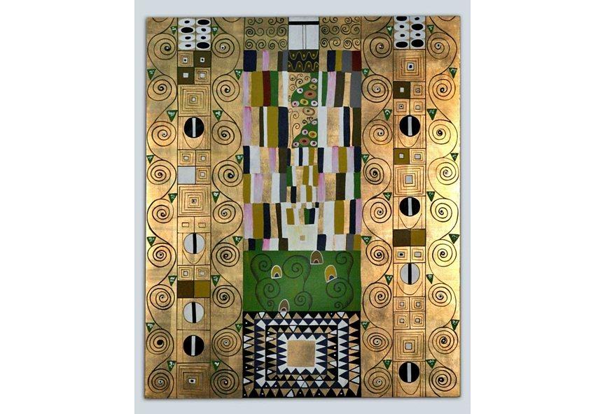 Wandbild »Gustav Klimt - Schmalwand« in goldfarben