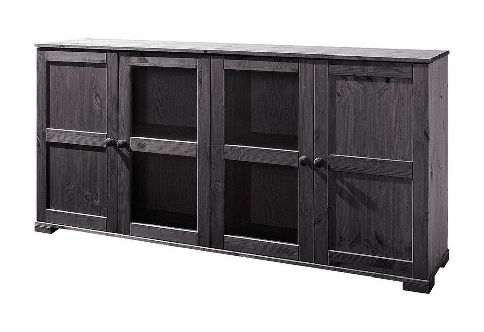 Sideboard, Home affaire, Breite 166 cm, Höhe 79 cm in kolonialfarben