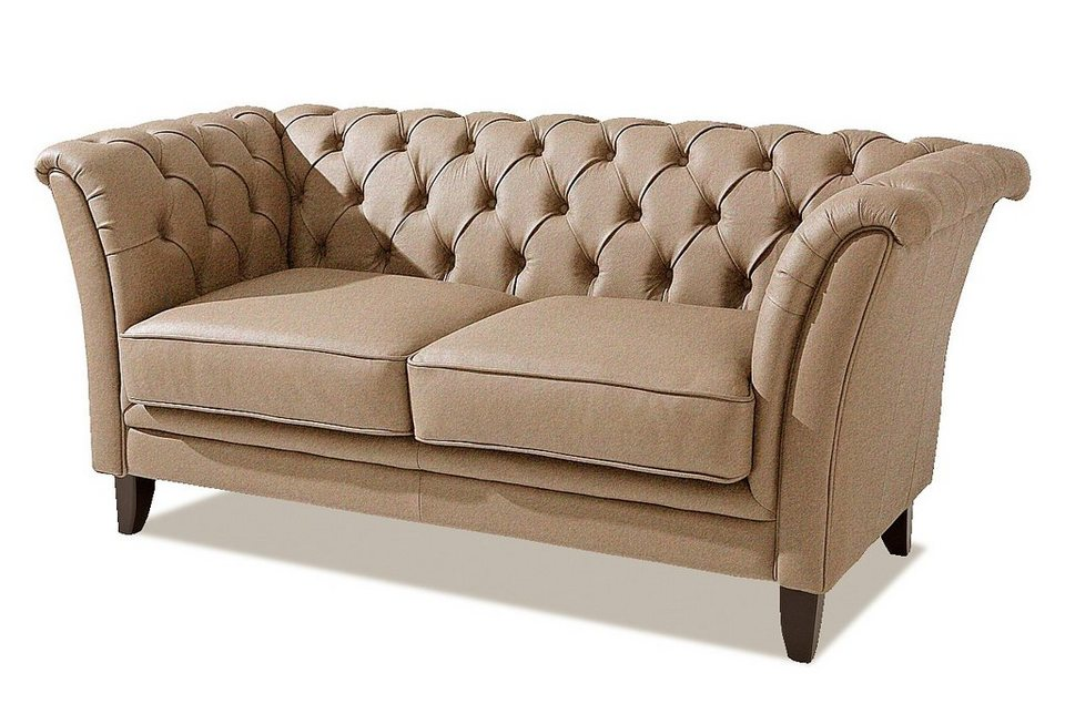 Max winzer chesterfield sofa new castle mit edler for Sofa 2 sitzer leder
