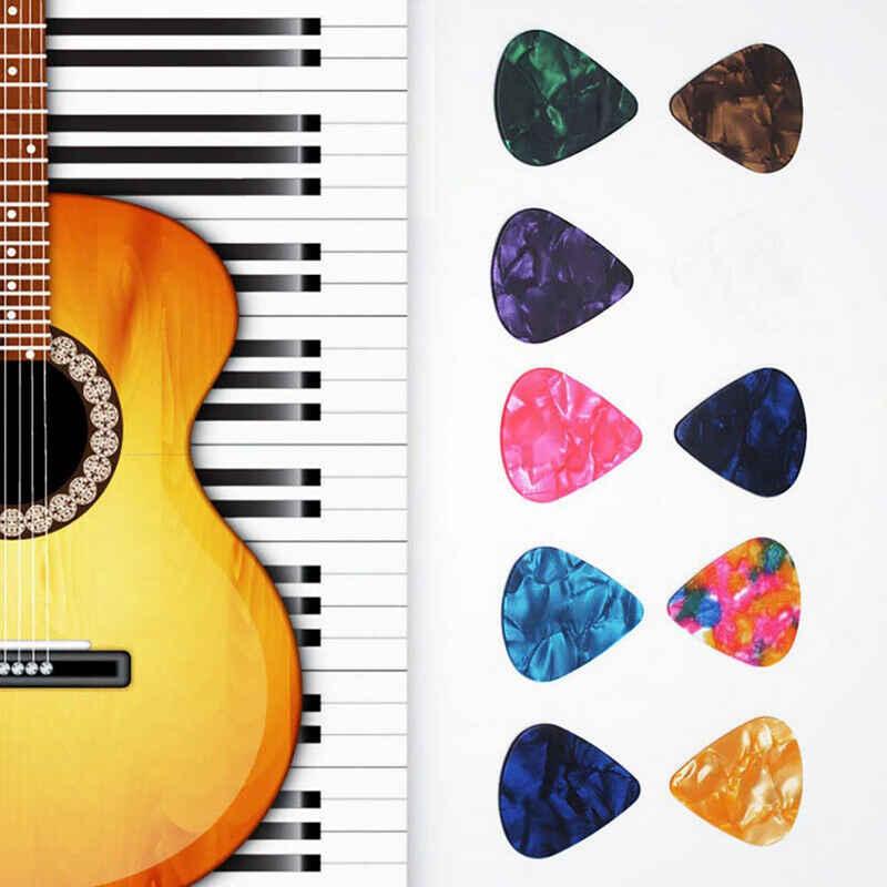 Masbekte Plektrum, 0,71 mm Celluloid Plektren, für Gitarren, E-Gitarre, bunt Gitarren-Picks