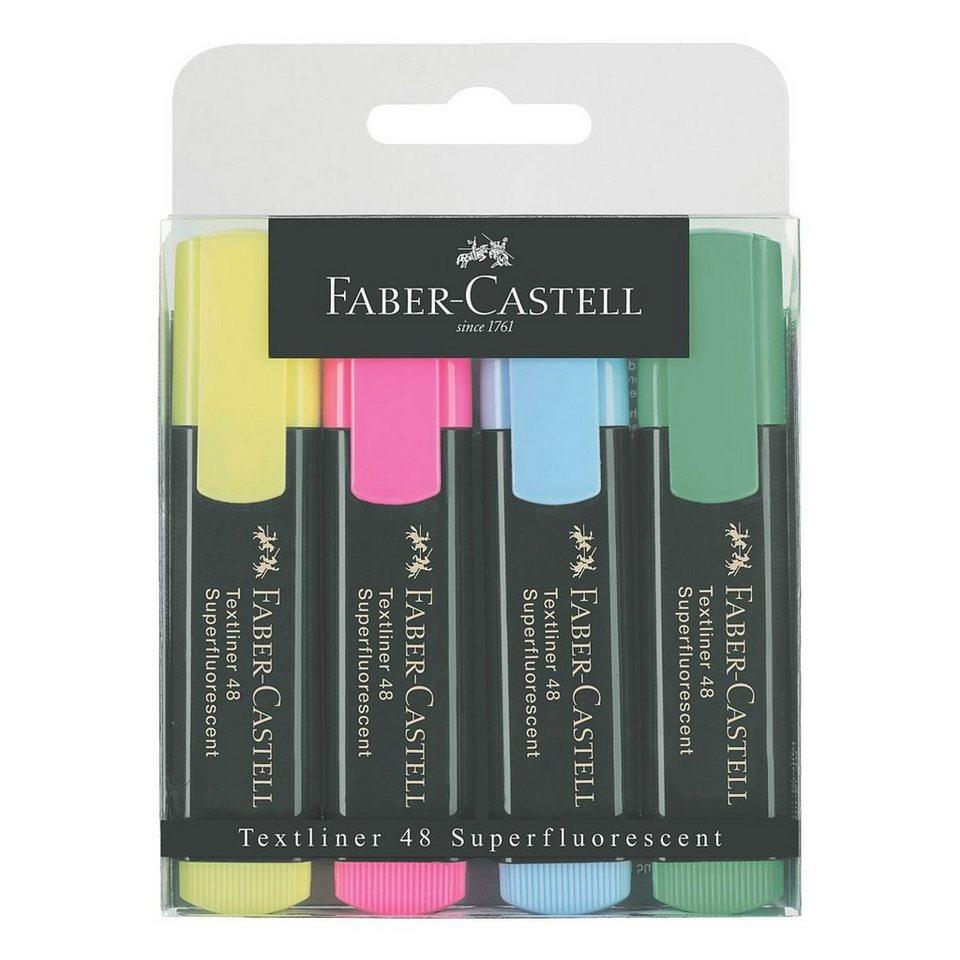 Faber Castell 4er-Pack Textmarker »Textliner 1548«