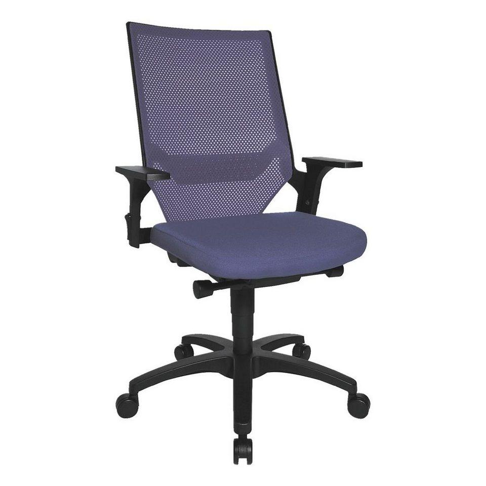 Topstar Bürostuhl »Autosyncron« ohne Armlehnen in blau